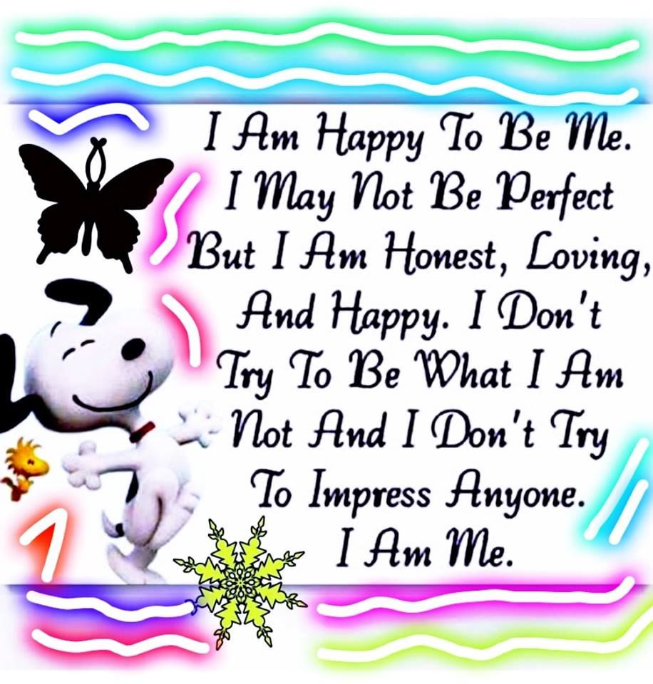I Am Happy To Be Me
