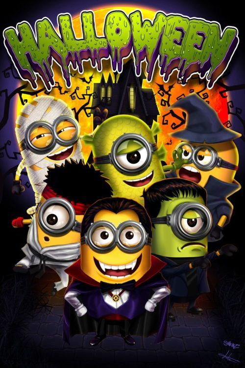Dressed Up Minion Halloween Quote