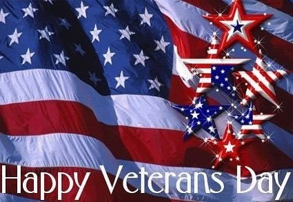 Star Flag Happy Veterans Day Quote