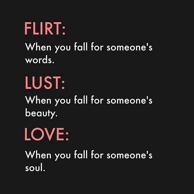 Lust love is what Love vs