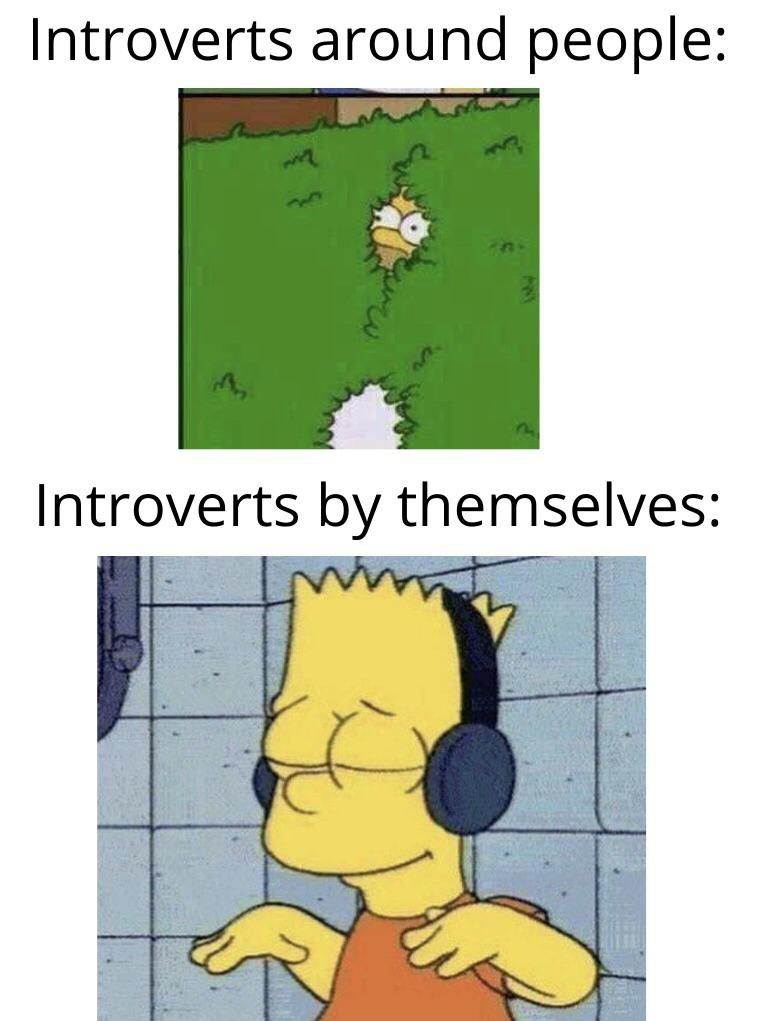 Introverts around people vs introverts by themselves