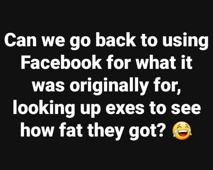 Can we go back to using Facebook for what it was originally for