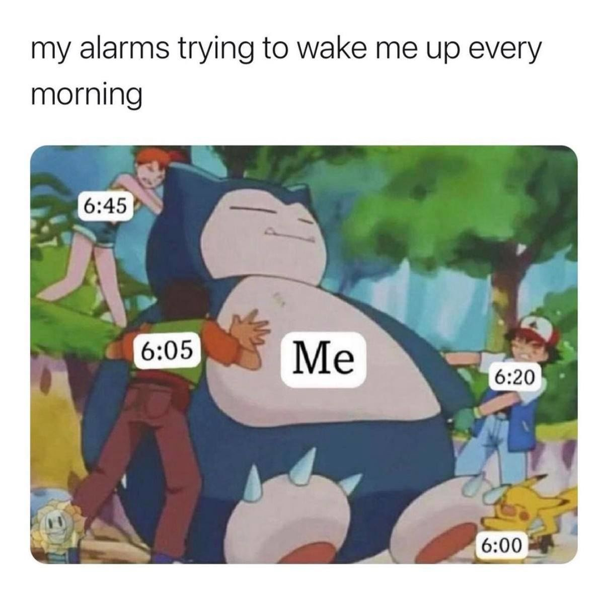 My alarms trying to wake me up every morning