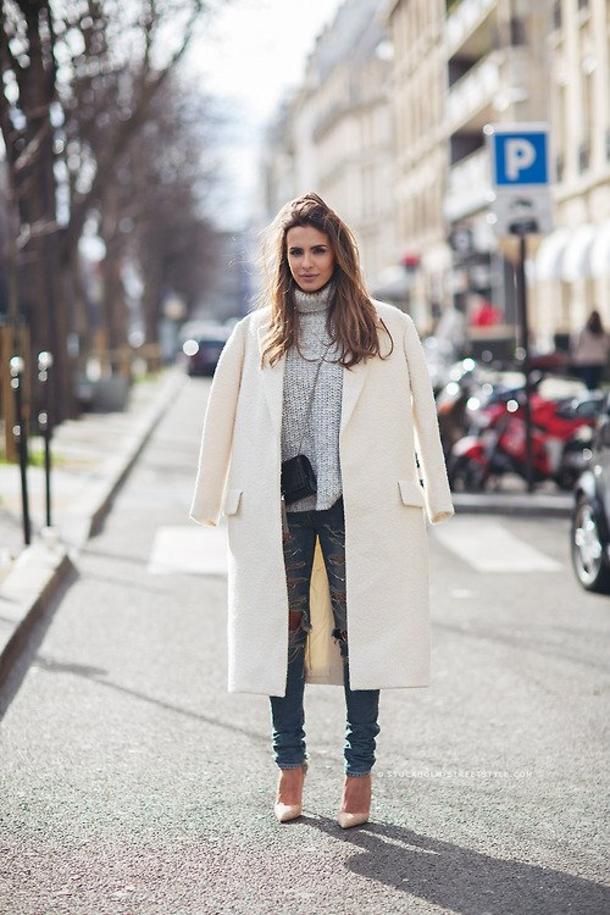 creative long coat outfit for women women