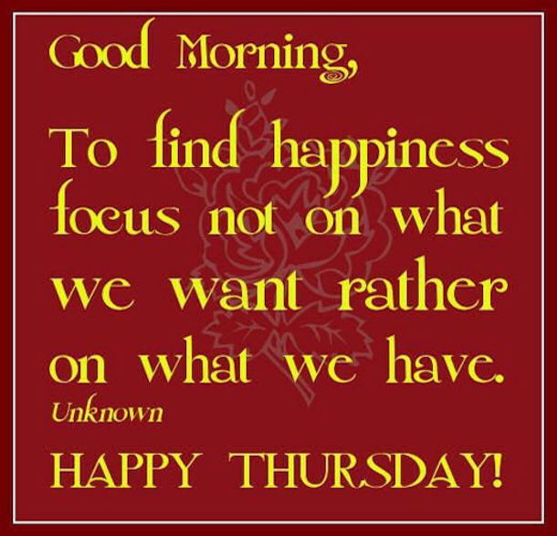 Best Thursday Wishes Quote: 20 Best Good Morning Happy Thursday Quotes