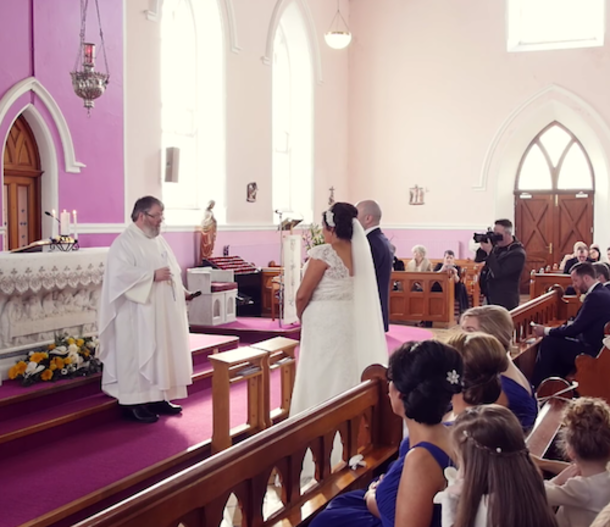 Ceremony Interrupted By Voice From The Back, Bride Turns