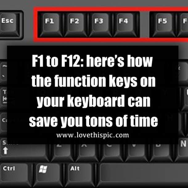 F1 To F12  Here U2019s How The Function Keys On Your Keyboard