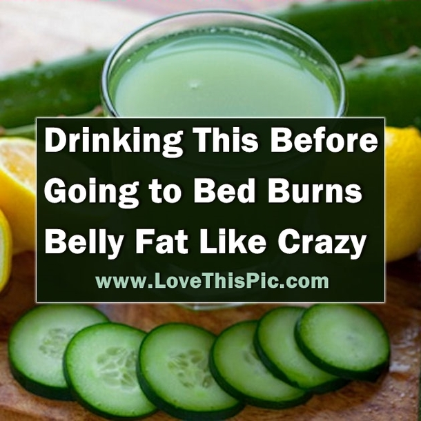 If You Drink This Before Going To Bed You Will Burn Belly ...