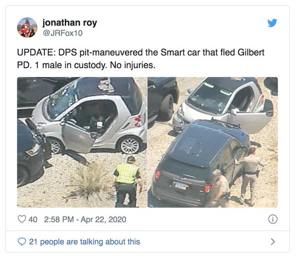 Smart vs. policajná naháňačka