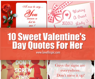 10 Sweet Valentineu0027s Day Quotes For Her