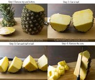 how to cut a pineapple steps