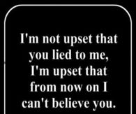 Quotes about believing someones lies