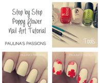 Flower nail art, Flower nails and Nail art tutorials on ... |Flower Nail Art Tutorial Step By Step
