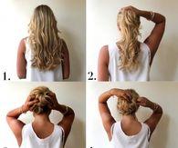 Admirable Easy Messy Bun Hair Tutorial Short Hair Fashions Short Hairstyles Gunalazisus