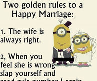 Funny secrets to a happy marriage