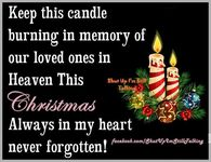 Keep This Candle Burning For Loved Ones In Heaven This Christmas