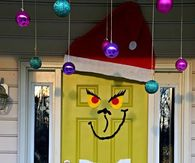 the grinch front door decoration