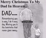 merry christmas to my dad in heaven - Merry Christmas In Heaven Dad