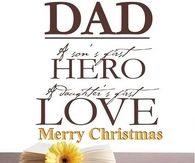 dad a sons first hero - Merry Christmas Dad