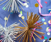 DIY New Years Party Decorations From Straws