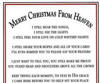 happy christmas in heaven