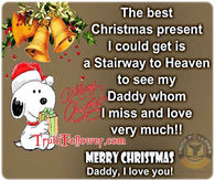 Merry Christmas To My Dad In Heaven