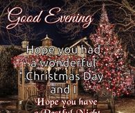 Good Evening Hope You Had A Wonderful Christmas Day