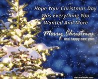 Hope Your Christmas Day Was Everything You Wanted And More
