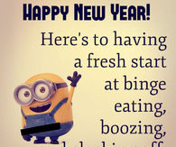 happy new year funny minion quote