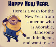 happy new year minion wishes