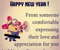 happy new year minion love quote