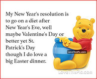 my new years resolution winnie the pooh quote