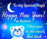 to my special angel happy new year in heaven