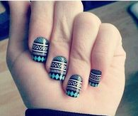 Tribal nails pictures photos images and pics for facebook dreamer prinsesfo Image collections