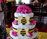 Baby shower decorations pictures photos images and pics for bumblebee diaper cake solutioingenieria Choice Image