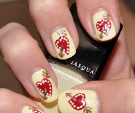 Valentines day nail art pictures photos images and pics for cupid heart nails prinsesfo Images