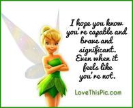 Tinkerbell quotes pictures photos images and pics for facebook i hope you know you are capable and brave even when you think you are not voltagebd Choice Image