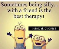 Sometimes Being Silly With A Friend Is The Best Therapy
