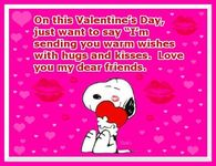 Snoopy Hugs And Kisses On Valentines Day Quote