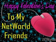 Happy Valentines Day To My Online Friends Quote