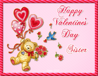 Happy Valentine's Day Sister Bear Quote