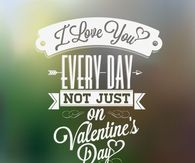 I Love You Everyday Not Just Valentines Day