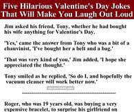 Five Hilarious Valentine's Day Jokes That Will Make You Laugh Out Loud