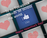 To My Facebook Friends Happy Valentines Day