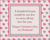 A hundred hearts Valentine's Day quotes