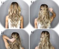 Hair tutorial pictures photos images and pics for facebook 5 minute half up ponytail twist solutioingenieria Images