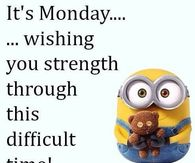 Minion monday quotes pictures photos images and pics for its monday wishing you strength voltagebd Gallery