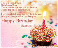 Happy Birthday Brother Quotes Pictures, Photos, Images, and Pics