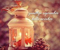 Goodbye September Hello October Autumn Quote