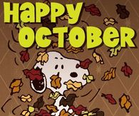 Snoopy Happy October Quote